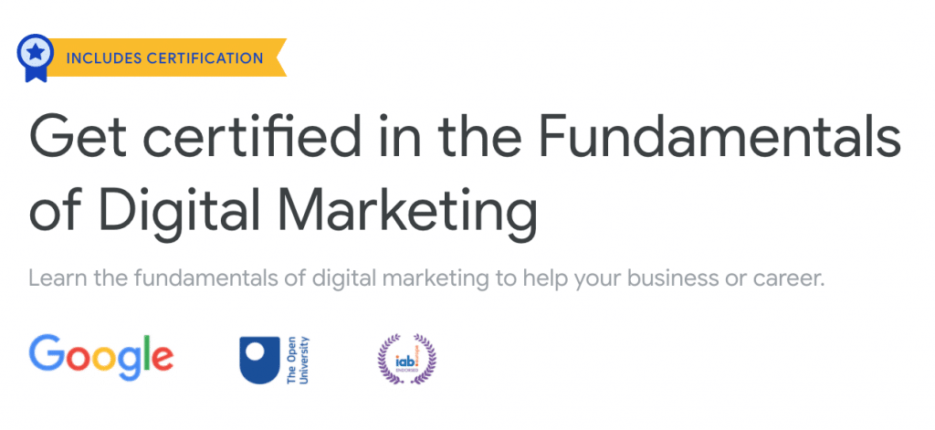 Review of Google Digital Garage's free course: Fundamentals of Digital Marketing